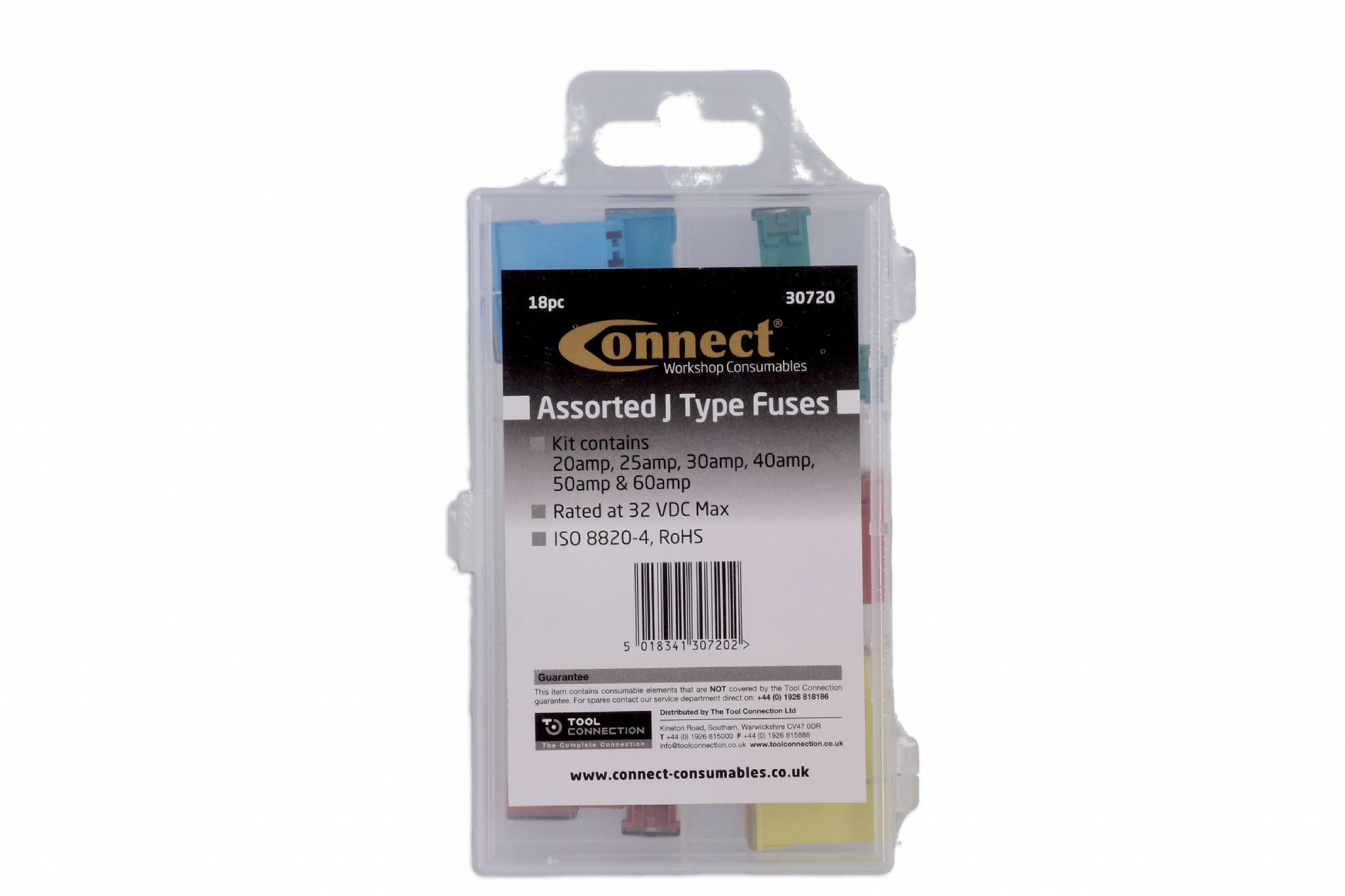 18 Pieces Connect 30720 Assorted J Type Fuses