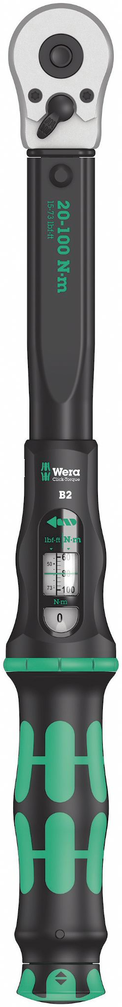 Wera 05075611001 Click-Torque B 2 Torque Wrench With Reversible Ratchet